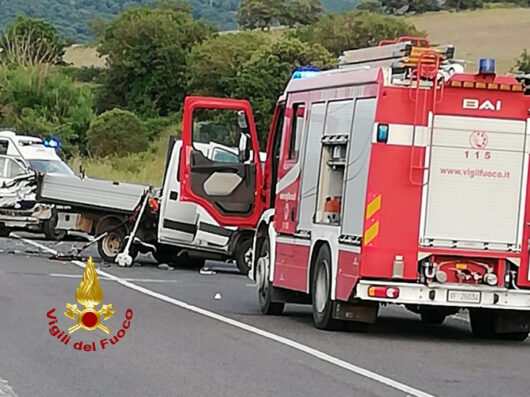 La scena del tragico incidente