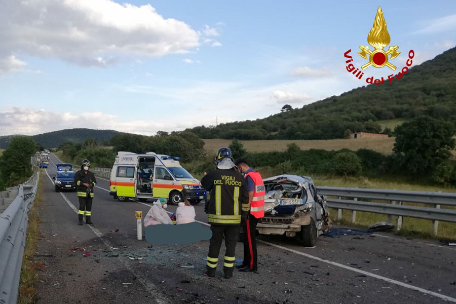 La scena dell'incidente mortale