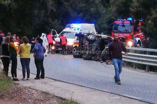 La scena dell'incidente sulla Oliena Dorgali