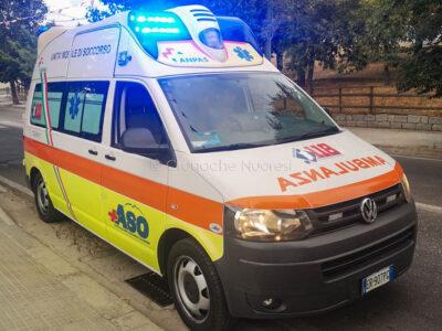 L'ambulanza del Servizio Aso Soccorso Oliena
