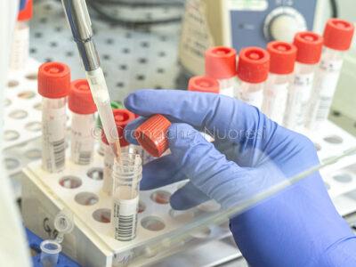 Nuoro, nel laboratorio di Biologia molecolare del reparto Covid-19 (© foto S.Novellu)