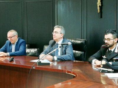 La conferenza stampa dove il PM Mazzeo ha illustrato i dettagli dell'operazione
