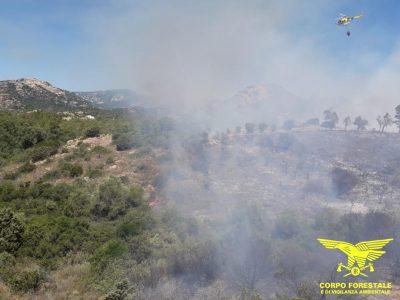 Incendio a Orosei