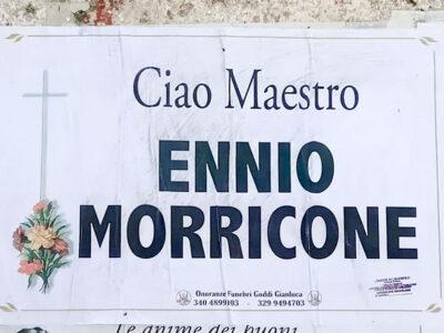 Il necrologio in onore di Ennio Morricone