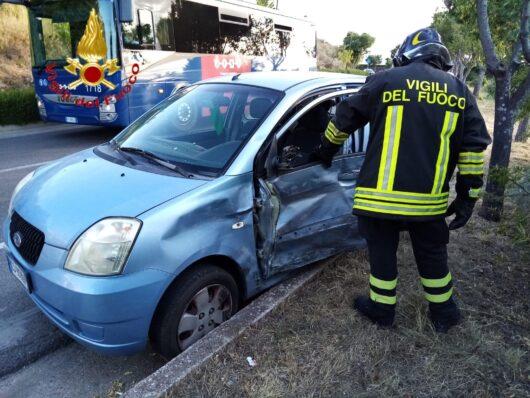 La Kia dopo l'incidente