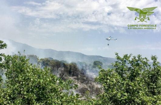 elicottero in azione a Nuoro