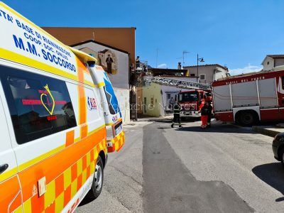 L'intervento dei Vigili del fuoco e del 118 a Irgoli