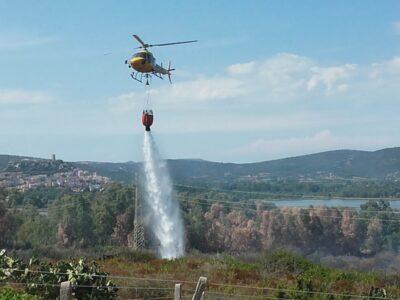elicottero in azione a Posada