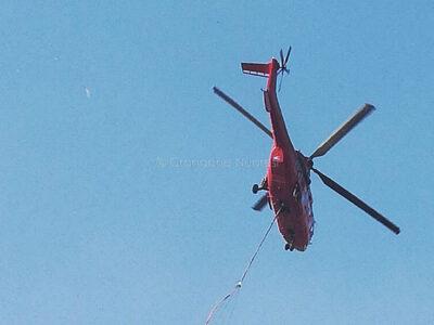Elicottero dalla base di Farcana (foto Emilio Zola)