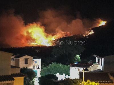 Incendio tra Tanaunella e Budoni (foto Mary Cabboi)