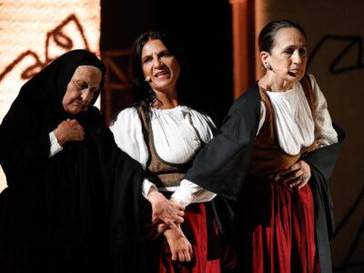 Una scena dello spettacolo teatrale