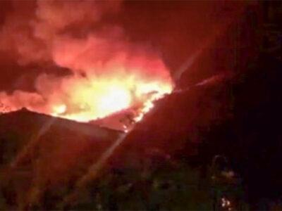 il vasto incendio a Budoni