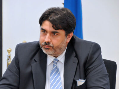 Il presidente della Regione Sardegna Christian Solinas