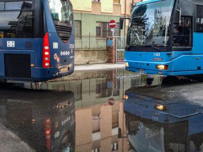 Nuoro, autobus alla stazione ARST (foto S.Novellu)