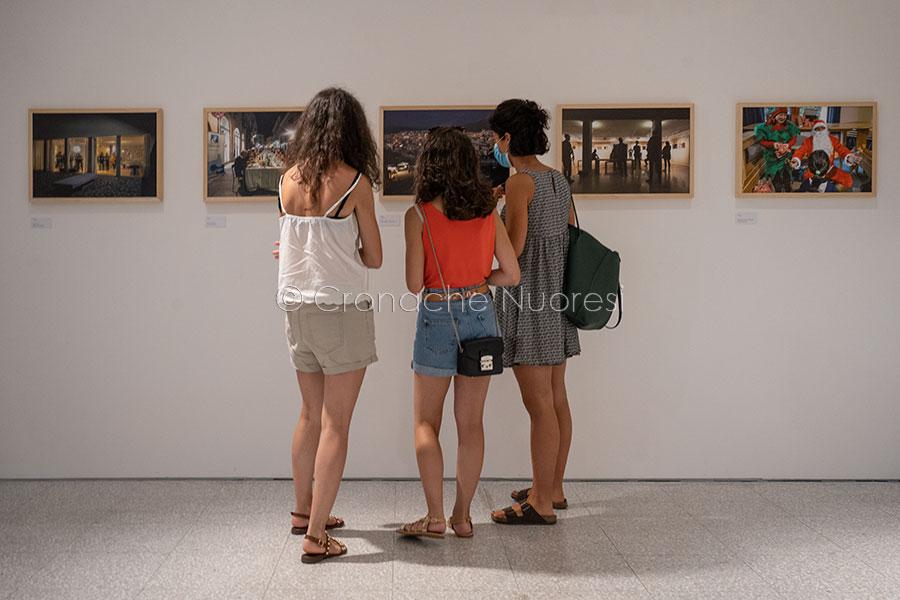 Un momento della mostra di Donato Tore all'ISRE (foto S.Novellu)