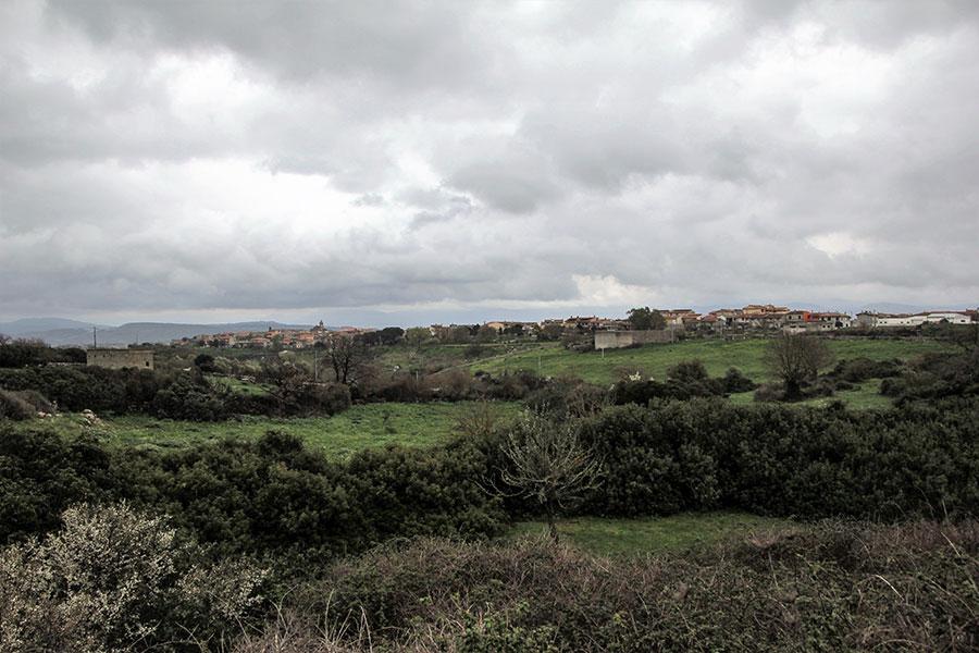 Una panoramica dell'abitato di Sedilo