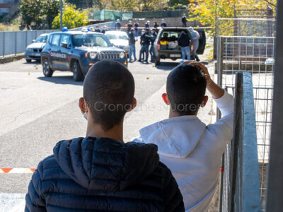 Fonni, rapina alle poste con sparatoria (foto S.Novellu)