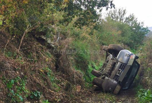 La scena dell'incidente a Meana Sardo