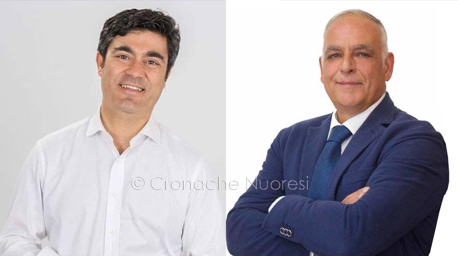 I due candidati sindaci Andrea Soddu e Pietro Sanna