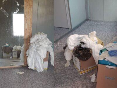 Deposito di materiale potenzialmente contaminato dal Covid