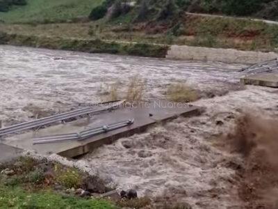 Il fiume Cedrino in piena