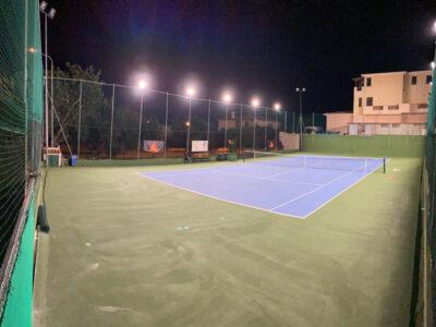 Il campo da tennis ultimato a Orosei