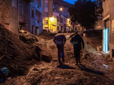Bitti, via Brigata Sassari dopo l'alluvione (foto S.Novellu)