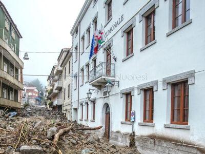 Il Comune di Bitti dopo l'alluvione (foto S.Novellu)