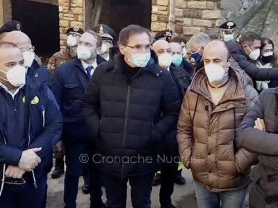 Il ministro per gli affari regionali e le autonomie Francesco Boccia a Bitti