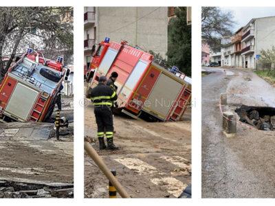 L'incidente occorso ai Vigili del fuoco a Bitti