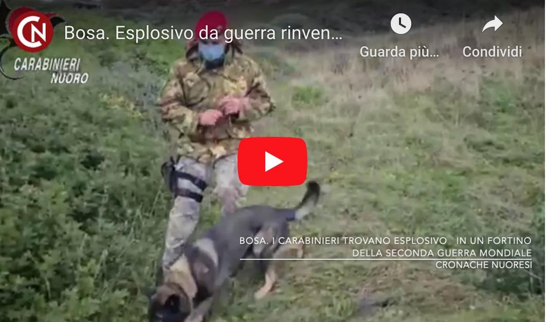 Bosa. Esplosivo da guerra rinvenuto in un fortino del secondo conflitto mondiale – VIDEO