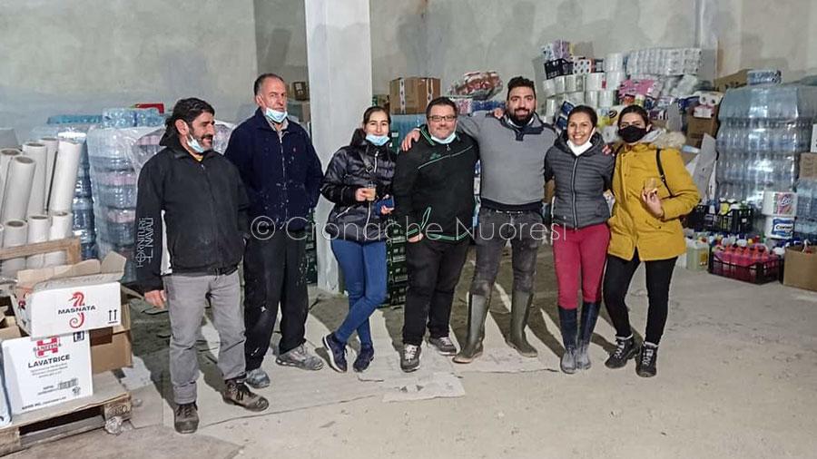 Volontari di Mamoiada a Bitti