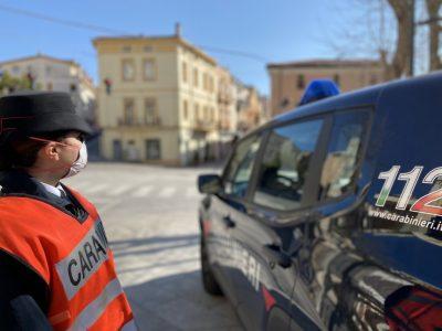 Un posto di blocco dei Carabinieri alle Grazie