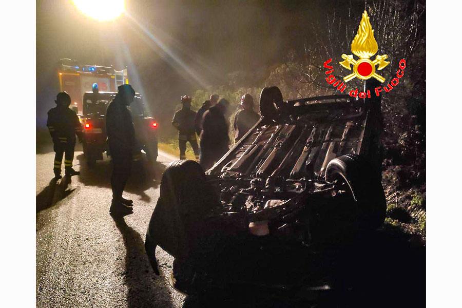 La scena dell'incidente nei pressi di Lodè