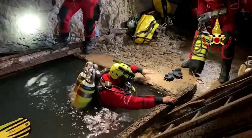Conclusa l'esercitazione dei Vigili del fuoco nella miniera di Reigraxius a Domusnovas – Photogallery