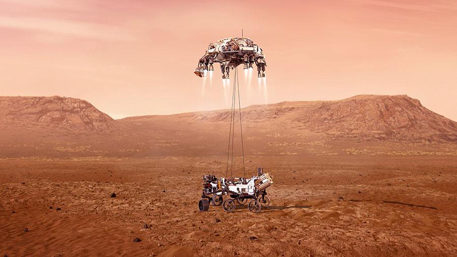 Il rover Perseverance della NASA è su Marte alla ricerca della vita
