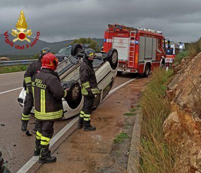 La scena dell'incidente sulla Olbia - Golfo Aranci