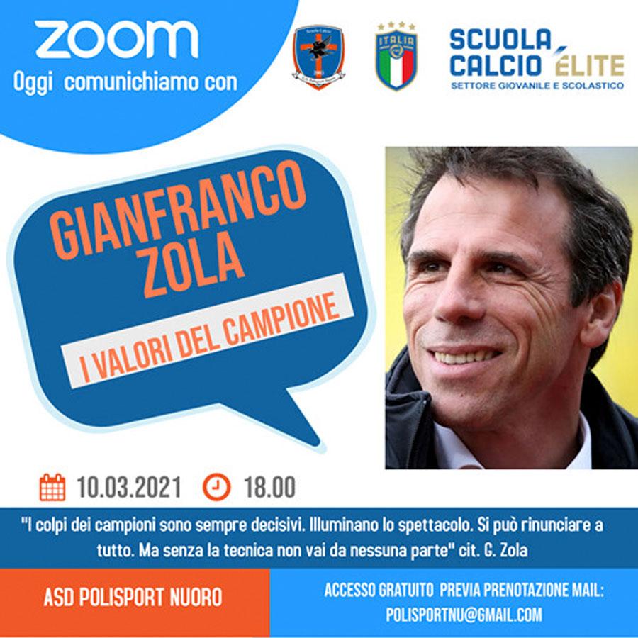 Nuoro. Gianfranco Zola incontra i suoi fan via web