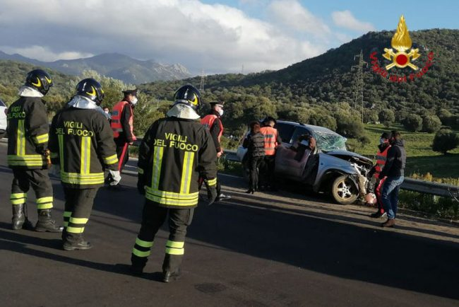 L'auto dopo l'incidente mortale
