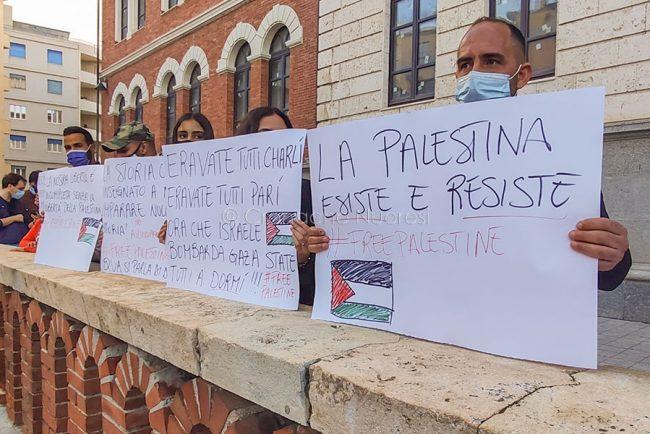 Cagliari, manifestazione per la resistenza palestinese (foto F.Nieddu)