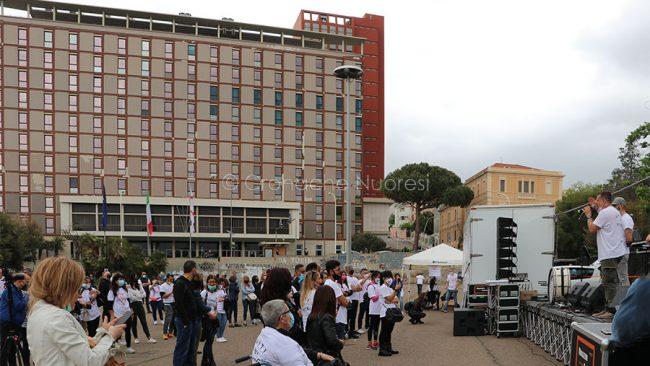 Cagliari. Manifestazione delle Magliette Bianche (foto K.Lai)