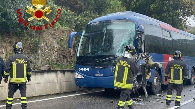 La scena dell'incidente sulla SS-125