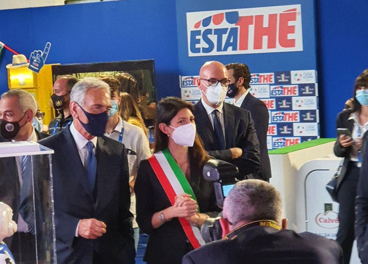 Euro2020, inaugurata Casa Azzurri a Roma