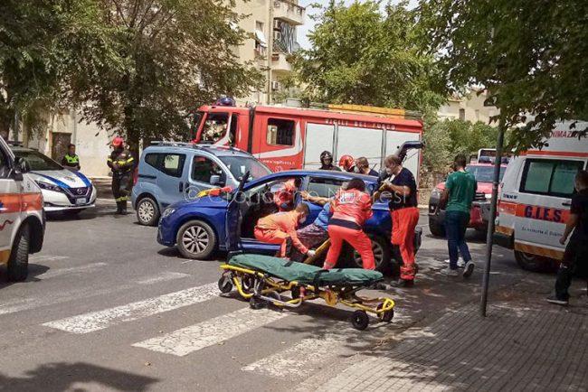 La scena dell'incidente (foto Cronache Nuoresi)