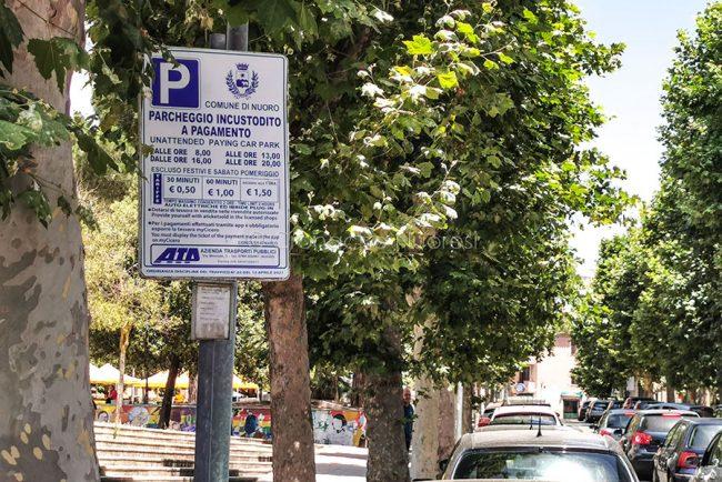 Nuoro, tariffe dei parcheggi ai Giardini (foto S.Novellu)