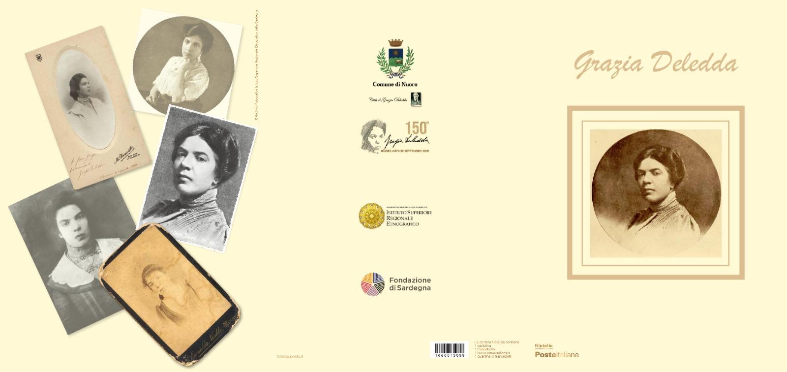 Nuoro. Lunedì sarà presentato un francobollo in onore di Grazia Deledda