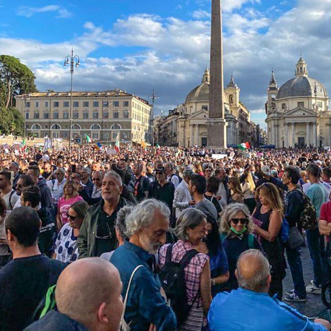 Un momento della manifestazione di di sabato a Roma (foto Filippo Sarti)