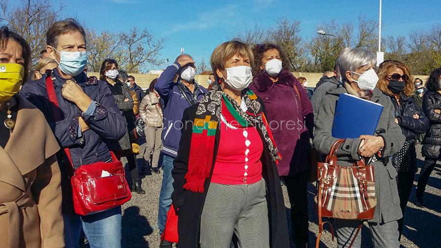 Nuoro, protesta dei malati oncologici al San Fracnesco ( foto S.Meloni)